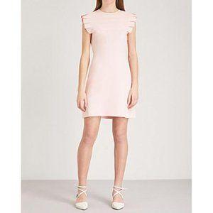 Sandro Laurena Pleat-detail Mini Dress In Rose